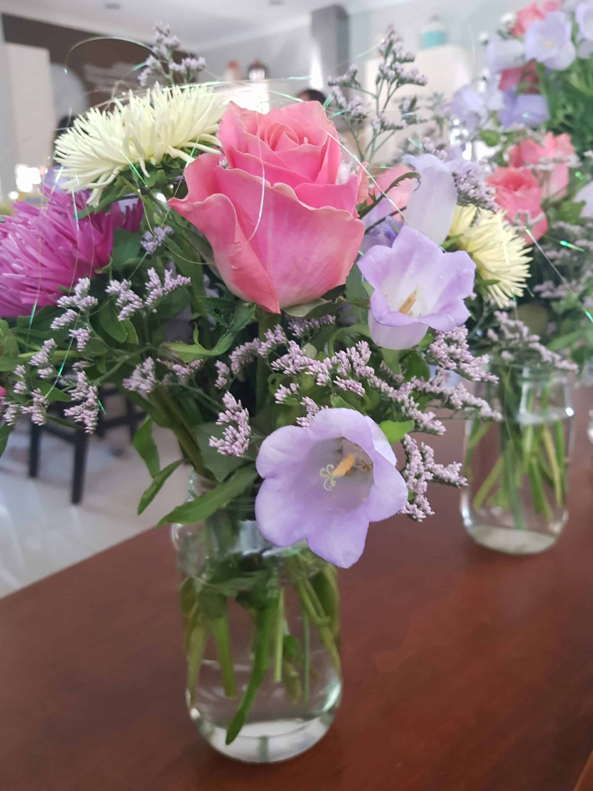 flowers in a vase scaled
