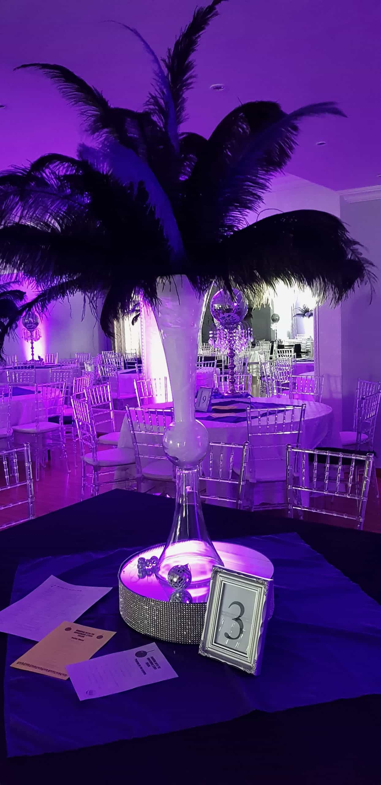 puple feather and center piece scaled